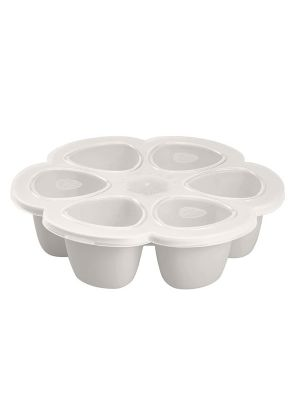 Beaba Silicone Multiportions 6 x 90ml Servings Light Grey