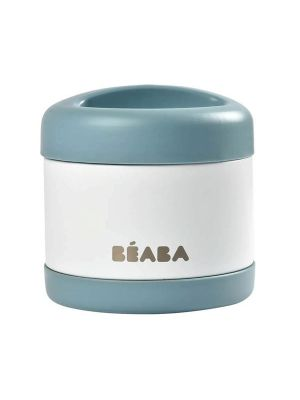 Beaba Stainless Steel Isothermal Portion 500ml Baltic Blue / White