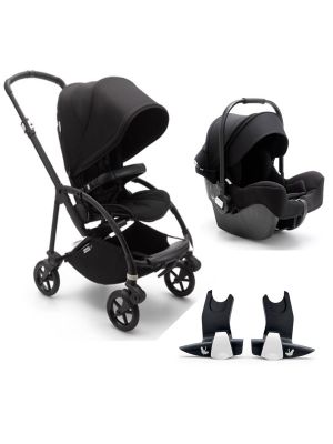 Bugaboo Bee 6 Complete Black Frame - Black TRAVEL SYSTEM (includes Turtle Car Seat & Adaptors)