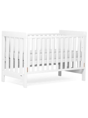 Boori Daintree Cot Bed V19 (with dropside) Barley + Breathable Mattress