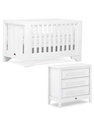 Boori Eton Expandable Cot Bed V19 Barley (Excludes Conversion Kit) + Breathable Mattress + Linear Chest