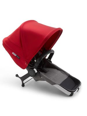 Bugaboo Donkey 3 Duo Extension Complete Aluminium/Grey Melange-Red