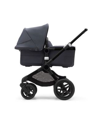 Bugaboo Fox 3 Complete BLACK/STORMY BLUE-STORMY BLUE with  BONUS cup holder valued at $54.95