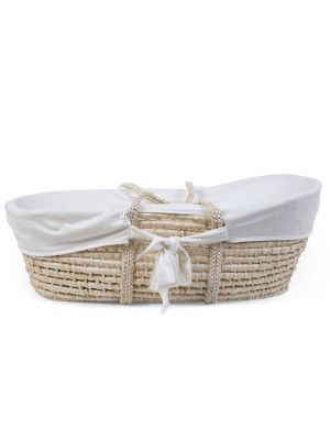 Childhome Corn Husk Moses Basket Jersey Insert Cover Off White