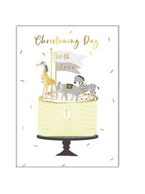 Waterlyn Real & Exciting Christening Cake RED_CIR322