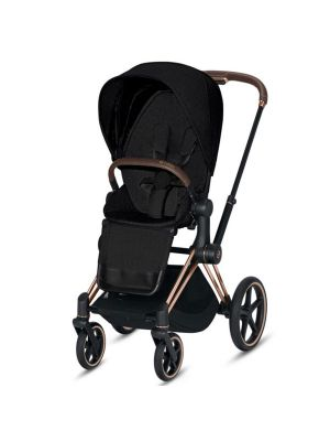 Cybex Priam 2020 Pram with Rose Gold Chassis & Stardust Black Seat