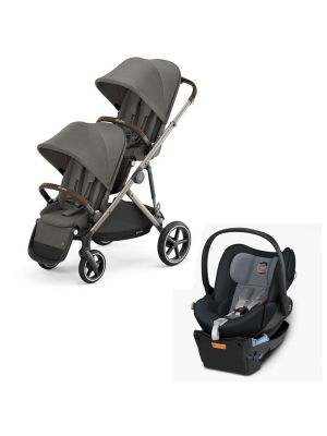 Cybex Gazelle S Pram + Second Seat Taupe/Soho Grey  + Cybex Cloud Q Capsule with Base Graphite Black with BONUS snack tray valued at $104.99