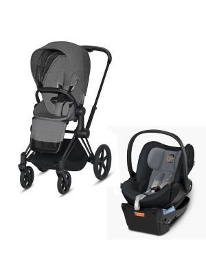 Cybex Priam 2020 Pram with Matt Black Chassis + Cybex Cloud Q Capsule with BONUS cybex cup holder and insect net valued at $85
