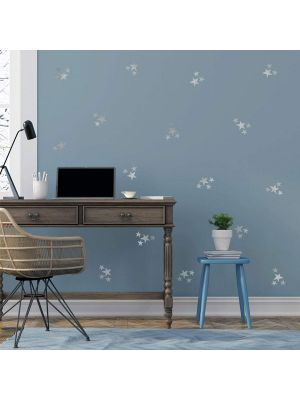 Decowall Little Stars Graphic Stickers Silver