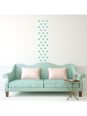 Decowall Lovely Hearts Graphic Wall Stickers Mint