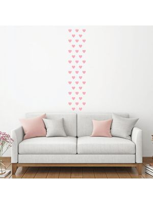 Decowall Lovely Hearts Graphic Wall Stickers Pink