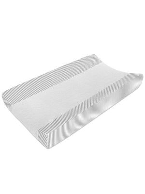 Living Textiles Jersey Change Pad Cover/Towelling Grey Stripe