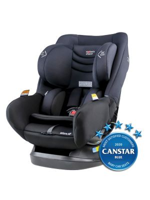 Mothers Choice Adore AP Car Seat ISOGO Black Space with bonus maxi cosi deluxe back seat organiser valued at $29.99