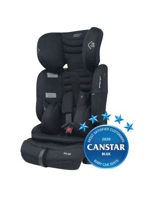 Mothers Choice Kin AP Convertible Booster Black Space with bonus maxi cosi deluxe back seat organiser valued at $29.99