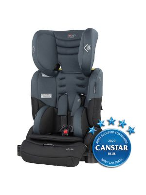 Mothers Choice Kin AP Convertible Booster Titanium Grey  with bonus maxi cosi deluxe back seat organiser valued at $29.99