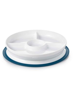 OXO TOT Stick & Stay Suction Divided Plate Navy