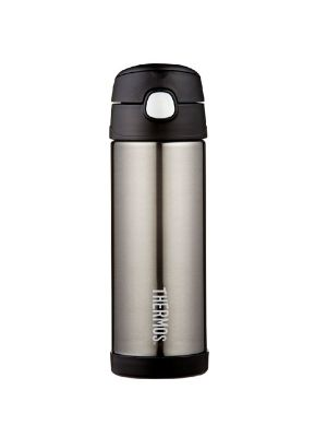 Thermos FUNtainer 470ml Drink Bottle Charcoal