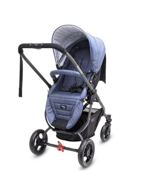 Valco Baby Snap Ultra Tailor Made Stroller Denim with BONUS SNACK TRAY-MIRROR MESH-UNIVERSAL CUP HOLDER VALUE $84.97