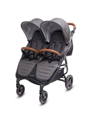 Valco Baby Trend Duo Stroller Charcoal  BONUS SNACK TRAY-BEVI BUDDY-ALL PURPOSE CADDY  VALUE $122.97